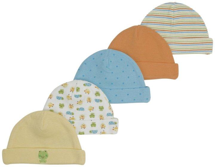 Gerber 5-Pk Cap Neutral - Multicolor-0-6 Months