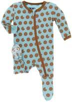 Kickee Pants Baby Boy's Glacier Cookies Footie