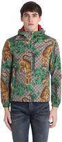 Gucci Tiger Print Nylon Jacquard Gg Jacket