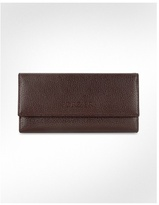 Women's Pebble Italian Leather Clutch Wallet