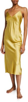 Olivia von Halle Issa Honey Silk Nightgown