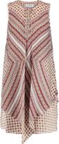 Derek Lam 10 Crosby Lace-up printed silk mini dress