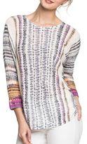 Nic+Zoe Petites Linen-Blend Printed Top