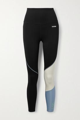 P.E Nation Retriever Appliqued Color-block Stretch Leggings - Black