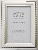 Eccolo World Traveler Hammered Plated Frame, Holds a 5 x 7-Inch Photo