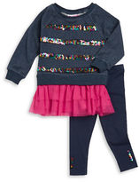Flapdoodles Girls 2-6x Sequined Long-Sleeve Tunic and Leggings Set