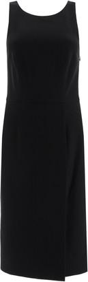 Givenchy DRESS WITH ASYMMETRICAL BACK NECKLINE 36 Black Wool