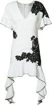 Jonathan Simkhai contrast lace flutter dress