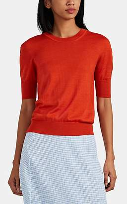 Jil Sander Women's Cashmere-Silk Crewneck Sweater - Orange