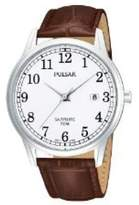 Pulsar Uhren PS9055X1 - Men's Watch, Leather, Brown Tone