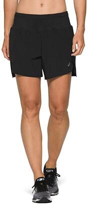 Asics Road 5.5 Shorts (Performance Black) Women's Clothing