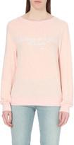 Wildfox Couture Shakespeare Little and Fierce-print fleece sweatshirt