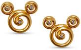 Disney Mickey Mouse Swirl Earrings by Rebecca Hook