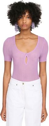 Jacquemus Rib Knit Sheer Top