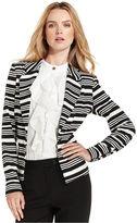 Calvin Klein Jacket, Striped Ponte-Knit Blazer