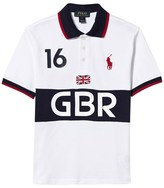 Ralph Lauren White Great Britain Polo Top