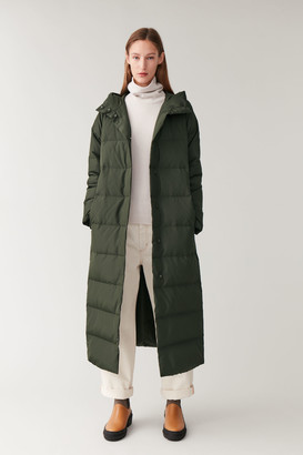 Cos Hooded Long Puffer Coat