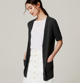 LOFT Short Sleeve Long Cardigan
