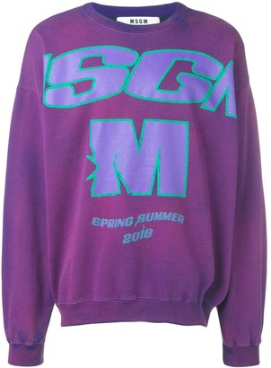 MSGM Washed Logo Sweatshirt