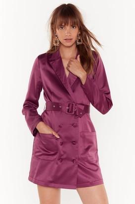 Nasty Gal Womens Such a Hell Blazer Dress - Purple - 8