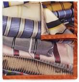 Paul Smith Stripe tie print silk pocket square