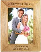 Very Personalised Wedding Day Wooden Photo Frame
