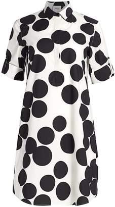 Akris Punto Large Polka Dot Shift Shirtdress