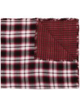 Diesel checked scarf