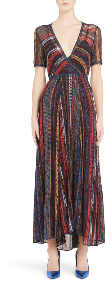 Missoni Metallic Stripe Knit Dress