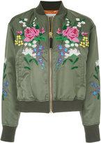 Muveil cross stitch bomber jacket