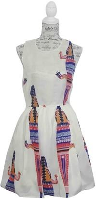MSGM White Silk Dresses