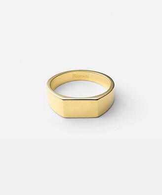 Miansai Geo Signet Ring in Gold Vermeil