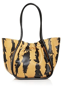 Proenza Schouler Large Tie Dye Stripe Ruched Leather Tote