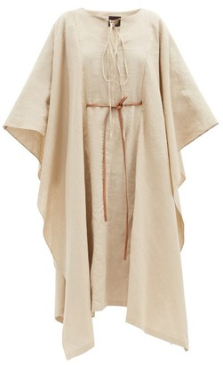 Loewe Paula's Ibiza - Tie-waist Linen-blend Maxi Kaftan - Beige