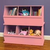 Badger Basket Three Bin Storage Cubby in Pink