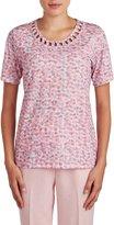Nygard Women's Petite Alia Curled Soutache Trim T-Shirt