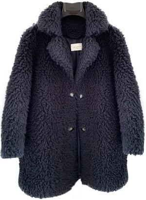 Sandro Spring Summer 2019 Navy Faux fur Coat for Women