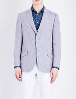 Richard James Melange regular-fit linen jacket