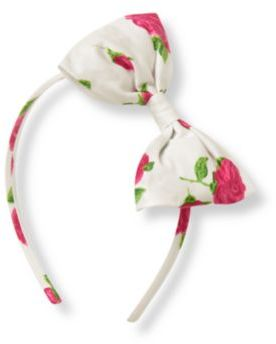 Janie and Jack Rose Floral Bow Headband