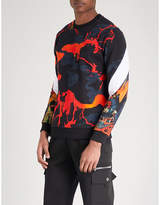Givenchy Hells Fire Cotton-jersey Sweatshirt