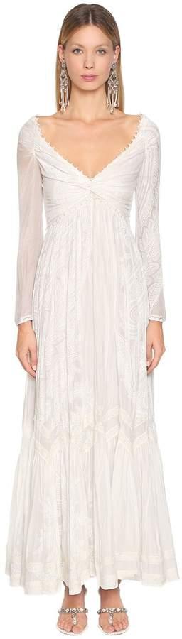 Etro Printed Cotton & Silk Voile Dress