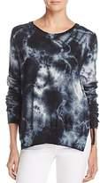Pam & Gela Tie-Dye Side-Tie Sweatshirt