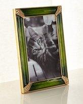 "Jay Strongwater Leland Pave Corner Frame, Emerald, 4"" x 6"""