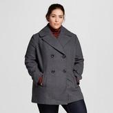 Women's Plus Size Wool Pea Coat - Ava & Viv