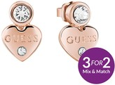 GUESS Rose Gold Plated Mini Heart Earrings