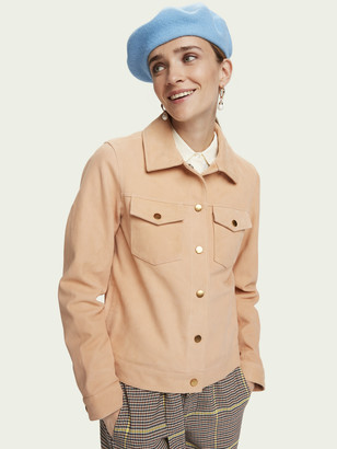 Scotch & Soda Fitted soft suede jacket | Women