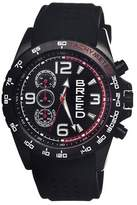 Breed Men's Touring Full-Function Chronograph Silicone Strap Watch-Black/White