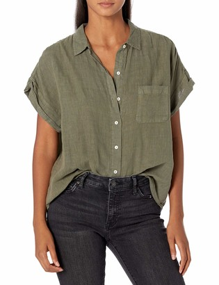 Velvet by Graham & Spencer Women's Emerson Camp Shirt