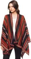 "Invisible World Women's 100% Alpaca Hand Made Poncho Ruana Shawl ""Potosi"""
