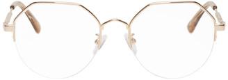 McQ Gold Swallow Hexagonal Glasses